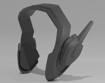 D.Va Headset Cosplay Prop [Overwatch] -- 3D Printed
