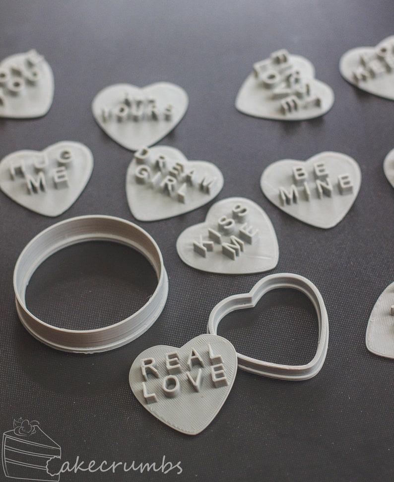 Sweet Heart/Conversation Heart Cookie Embossing Set image 0