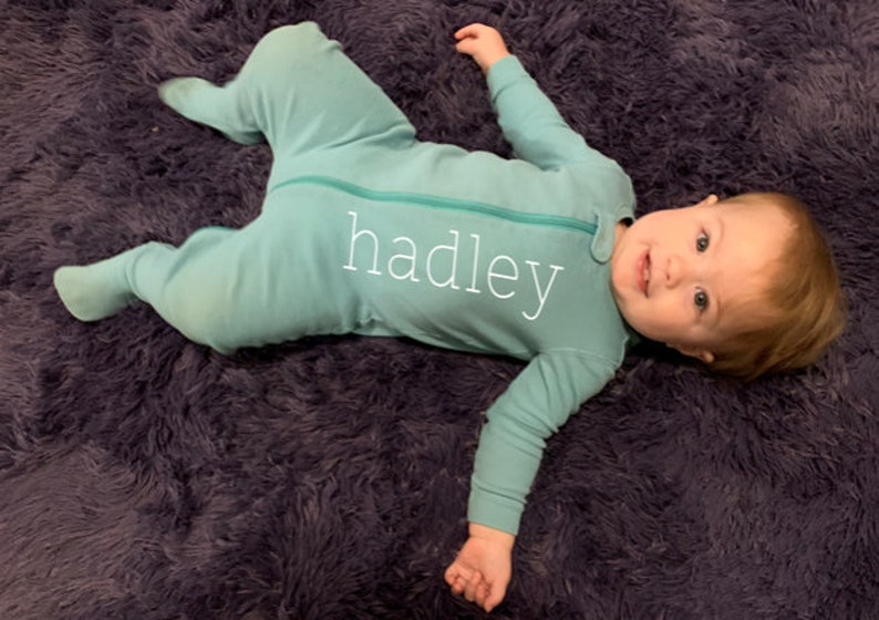 coming home outfit custom baby pajamas Baby Pajamas Personalized Personalized Footed Baby Sleeper custom baby footies baby announcement