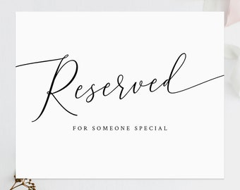 image about Reserved Sign Printable called Reserved printable Etsy