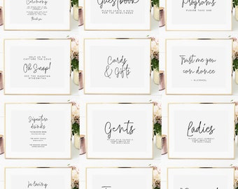 image about Printable Wedding Signs known as Printable marriage signs and symptoms Etsy