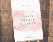 Bridal Shower Welcome Sign INSTANT DOWNLOAD Poster, Portrait, Templett, Printable, Instant Download, Welcome to the bridal shower, blush