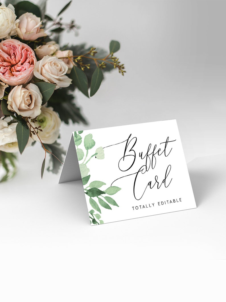 Buffet Printable DIY Buffet Tent Card Food Tent Buffet Card Template INSNTANT DOWNLOAD Wedding Food Label Templett Totally editable