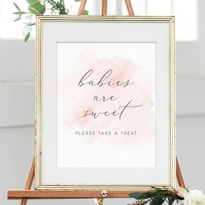 Favor Signs Babies are sweet Sign INSTANT DOWNLOAD poster Printable Baby Shower Baby Shower Signs Take a Treat Templett