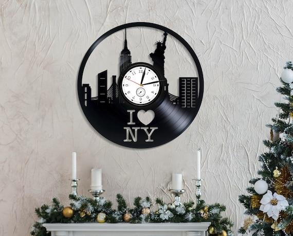 America Travel Wall Clock Vintage Xmas Gift New York City Lp