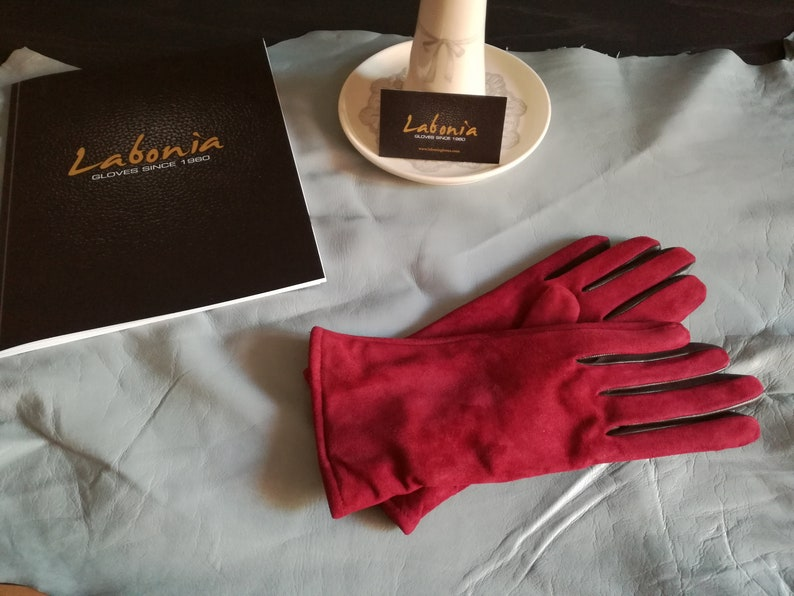 Handmade Quality Suede Leather Gloves 100/% Wool lined Made In Italy