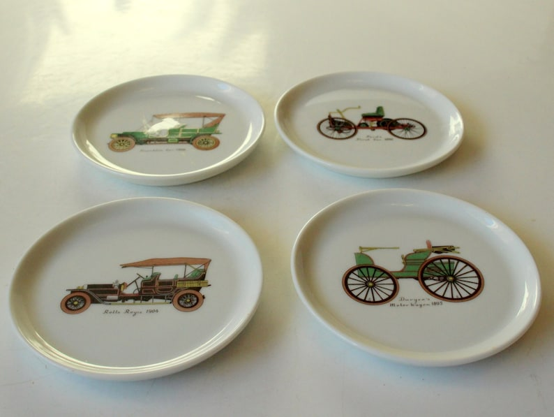 4 Great Vintage Vintage Coasters F\u00fcrstenberg Ceramic ...