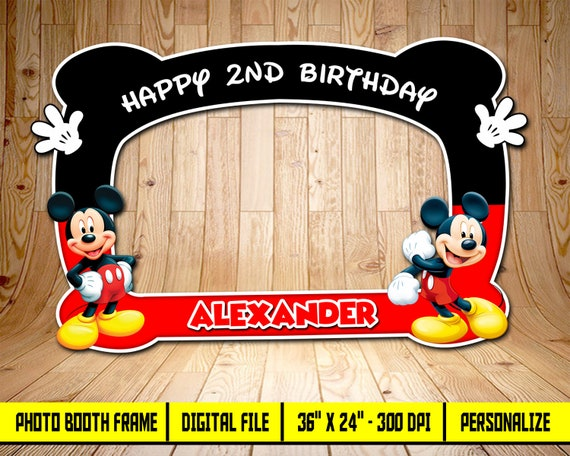 Download Free Printable Mickey Mouse Friends Birthday Mickey Mouse Photo Frame Birthday Transparent Png 1600x1132 Free Download On Nicepng