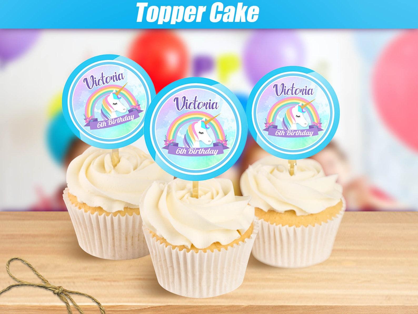 Printable Unicorn Cupcake Toppers Page Three