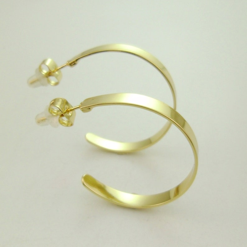 2004-2020-1 Minimal Dainty for Everyday Style 14k Gold Round Circle Hoop Earrings Handmade Limited Edition
