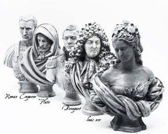 12th Scale Dolls House Busts (choose from 5 designs) models sculptures only 5cm tall