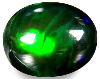 "2.04 Ct Superior Fire (10 x 8 mm) 3D MultiColor Disco Black Opal Loose Gemstone ""Watch Video link in Description"""