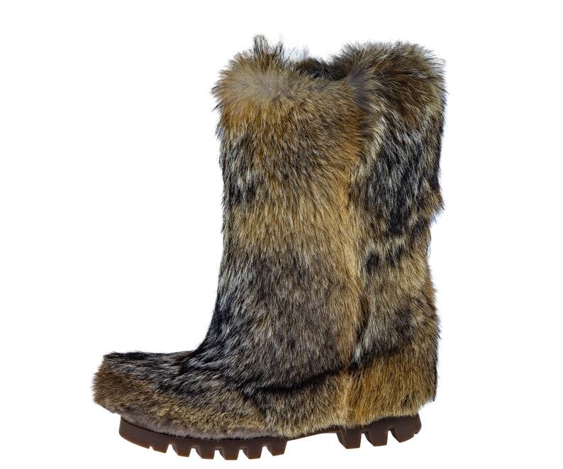 Stivali di pelliccia di Coyote per uomini mukluks viking Dj7H0qXb