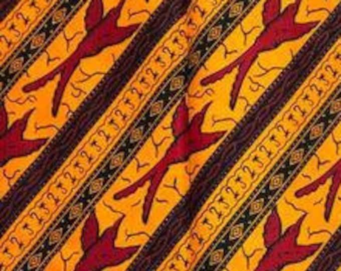 "Ankara Animal Fabric ""Gold Sky"" (AAF3020)"