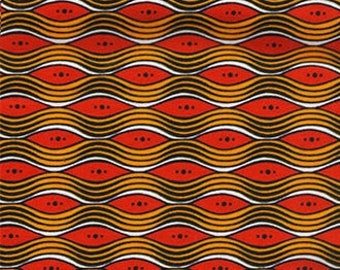 "Ankara Fashion Fabric ""Golden Ripples"" (HFF714)"