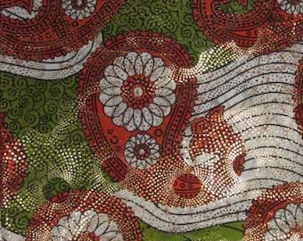 Premium Ankara Print Fabric - Silver Metallic Foil (HF018)