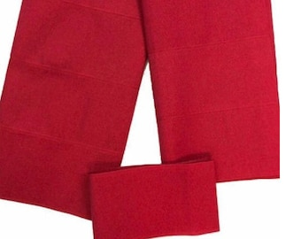 Hot Pink Plain Textured Aso-Oke - 3 Piece Gele Headtie / Ipele Shoulder Set
