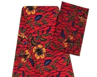 Faux Silk Satin & Chiffon Ankara Print Combo - Summer Flowers