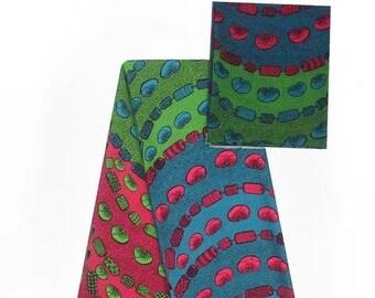 Faux Silk Satin & Chiffon Ankara Print Combo - Good Harvest