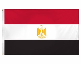 Printed Polyester Flag - Egypt