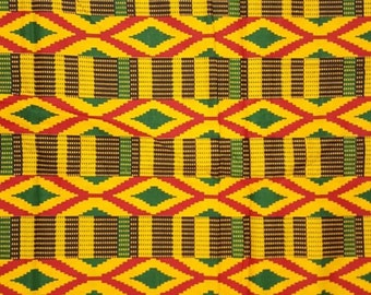 Premium Ankara Print KENTE Fabric - 3 or 6 yards (HF204)