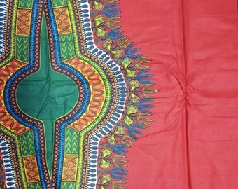 Premium Ankara Print DASHIKI Fabric - 3 or 6 yards (HF1692)