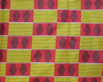 Premium Ankara Print KENTE Fabric - 3 or 6 yards (HF181)