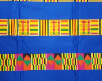 Premium Ankara Print KENTE Fabric - 3 or 6 yards (HF192)