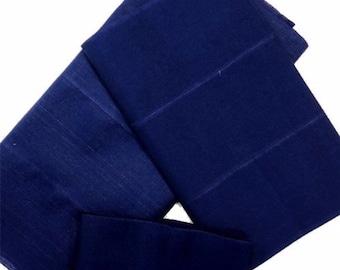 Aso-Oke (Royal Blue) - 3 Piece Gele Set