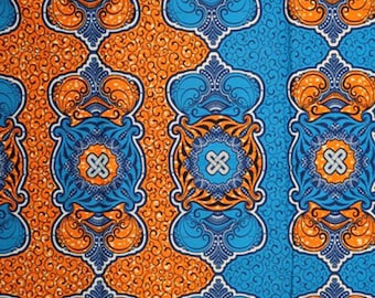 Premium Ankara Print HOLLAND Fabric - 3 @ 19.99/yd or 6 yards @ 11.66/yd (HF446)