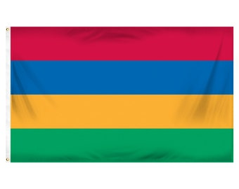 Printed Polyester Flag - Mauritius