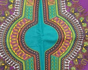 Premium Ankara Print DASHIKI Fabric - By the Yard (HF1688)