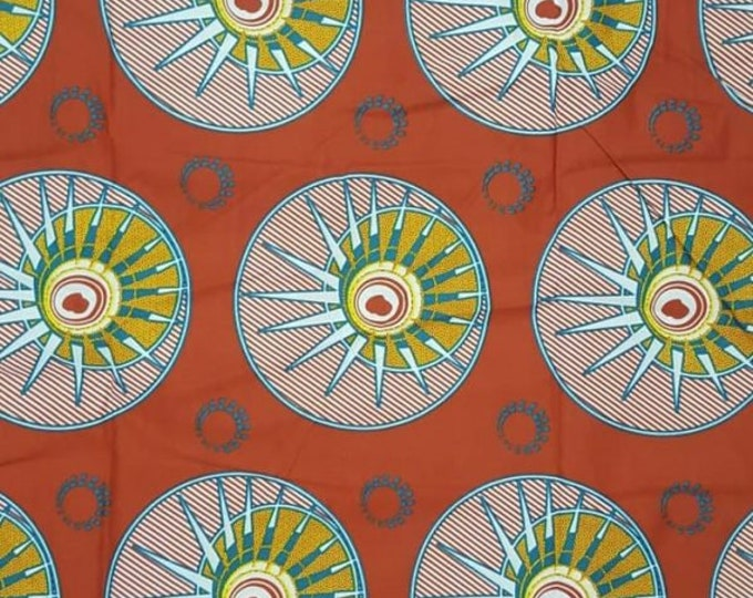 Featured listing image: Premium Ankara Print TREND Fabric - 3 yards @ 6.66/yd or 6 yards @ 4.99/yd (HF99)
