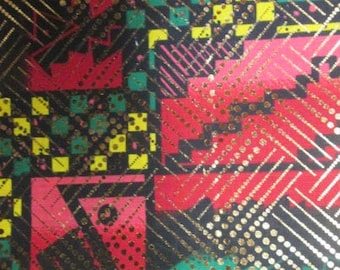Premium Ankara Print Fabric - Gold Metallic Foil (HF045)