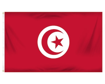 Printed Polyester Flag - Tunisia