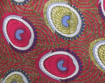 Premium Ankara Print FASHION Fabric - 3 yards @ 6.66/yd or 6 yards @ 4.99/yd (HF2176)