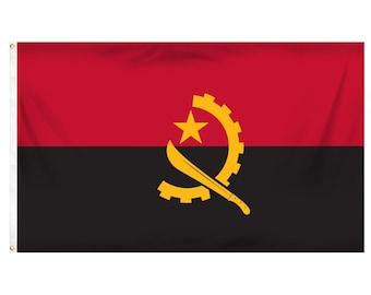 Printed Polyester Flag - Angola