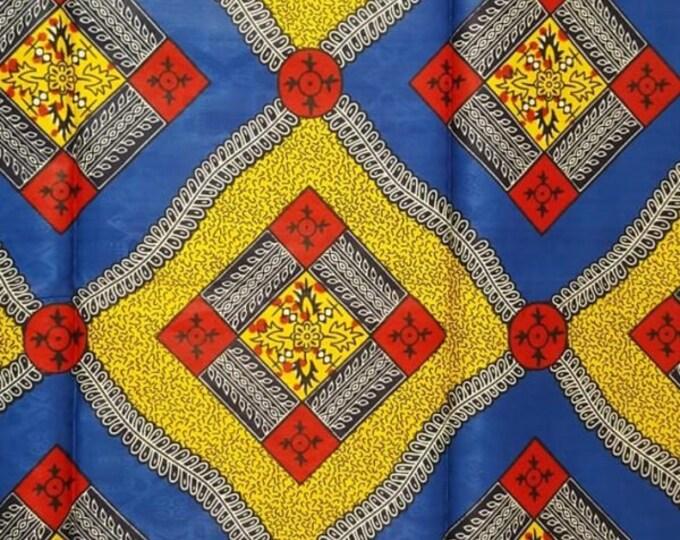 Featured listing image: Premium Ankara Print TREND Fabric - 1 yard (HF34)