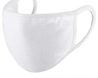 Bulk White Cotton Masks (20ct) | 3-Layer Moisture Wicking Cotton