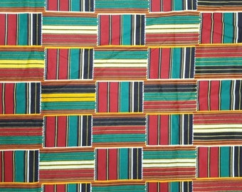 Premium Ankara Print KENTE Fabric - 3 or 6 yards (HF196)
