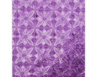 Purple Organza Lace - 5 yards