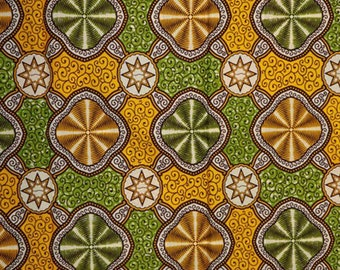 Premium Ankara Print HOLLAND Fabric - 3 @ 19.99/yd or 6 yards @ 11.66/yd (HF438)