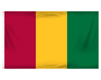 Printed Polyester Flag - Guinea