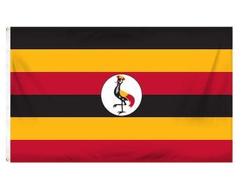 Printed Polyester Flag - Uganda