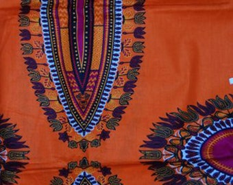Premium Ankara Print DASHIKI Fabric - 3 or 6 yards (HF2101)