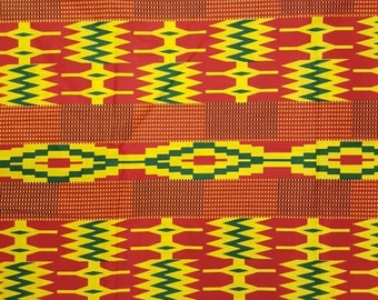 Premium Ankara Print KENTE Fabric - 3 or 6 yards (HF205)