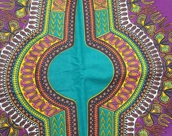 Premium Ankara Print DASHIKI Fabric - 3 or 6 yards (HF1688)