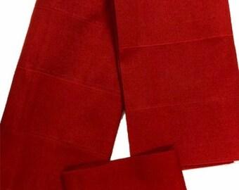 Aso-Oke (Red) - 3 Piece Gele Set
