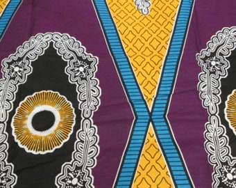 Premium Ankara Print DASHIKI Fabric - 3 or 6 yards (HF918)