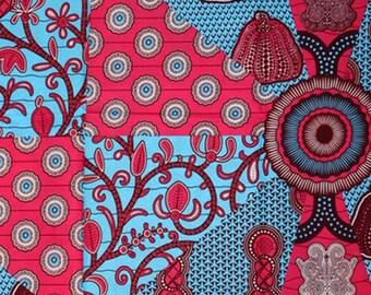 Premium Ankara Print HOLLAND Fabric - 3 @ 16.66/yd or 6 yards @ 9.99/yd (HF449)